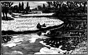 wood-engraving original print: May for Time and Tide calendar